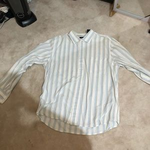 Kenneth Cole Mens Partial Button Down